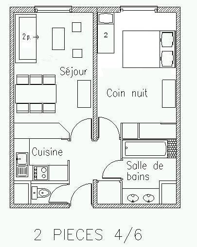 Location vacances appartements m ribel le grand chalet for Plan appartement 1 chambre